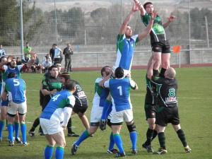 Un partido del Rivas Club Rugby en la liga federada (Foto cortesía del club)