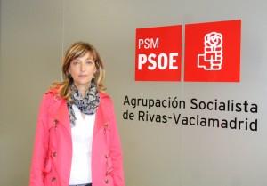 Carmen Pérez, en la sede del PSOE de Rivas (Foto Rivas Actual)
