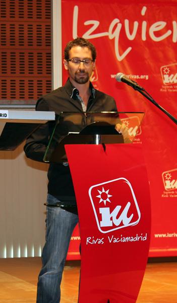 Ismael González, en un acto celebrado ppor IU Rivas en 2012 (Foto archivo Rivas Actual)