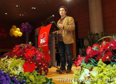 Pedro del Cura, durante la asamblea de la que salió elegido Coordinador Local, el pasado año (Foto: Enrique Ayala)