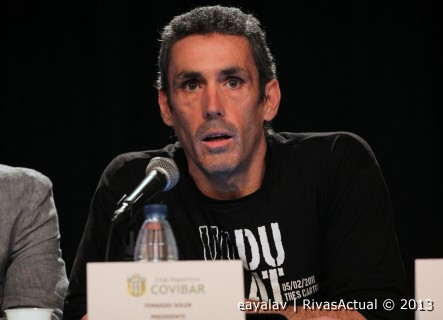 Fernando Soler, presidente del CD Covibar (Foto: Enrique Ayala)