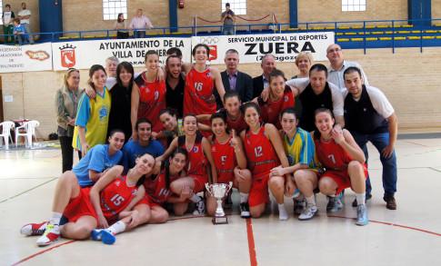 El equipo de Distrito Olímpico Rivas, campeón de su zona (Foto: basketrivasecópolis.com)