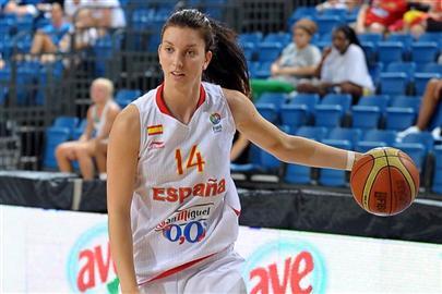 Laura Gil durante su estancia en Beroil Ciudad de Burgos (Foto: FEB)