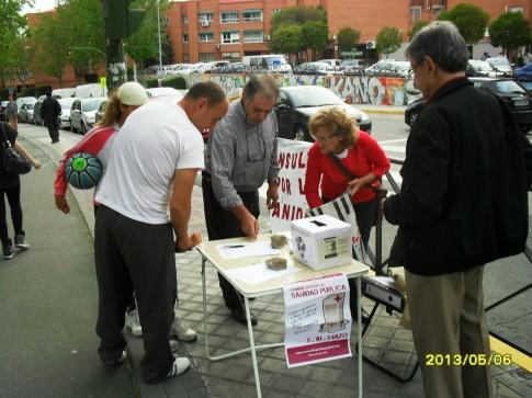 Una de las mesas en el barrio de Covibar (Foto cortesía de Antonio del Río)