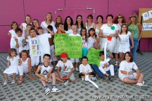 Un grupo de participantes en la Fiesta posa para Rivas Actual (Foto: Enrique Ayala)