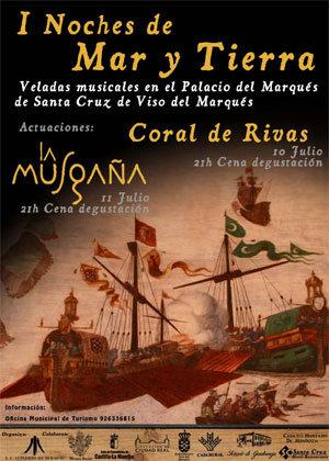 """Cartel anunciador de la primera edición de las """"Noches"""", en la que participó también el Coro Rivas"""