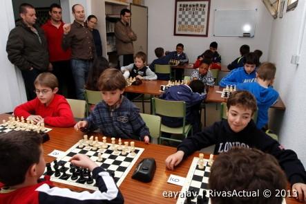Imagen de archivo de un campeonato de ajedrez en la sede del club de Rivas (Foto: Enrique Ayala)
