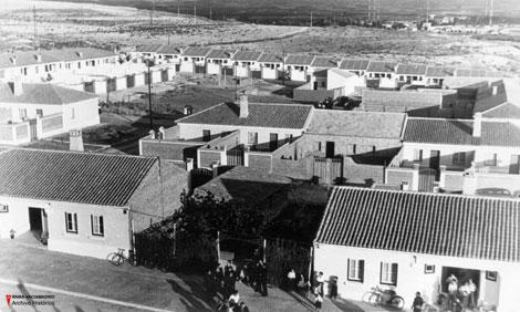 Imagen del núcleo originario de Rivas Vaciamadrid, en una foto tomada en 1959 por Conchi Santero (Foto tomada del blog latabernadejack.typepad.com)