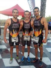Los tres miembros del equipo de Diablillos que consiguieron el campeonato de España (Foto cortesía del club)