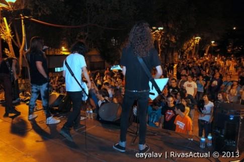 Un momento del concierto de Mr Wilfred, el sábado por la noche (Foto: Enrique Ayala)