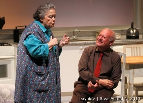 Gaiana y-Echanove durante la representación (Foto: Enrique Ayala)