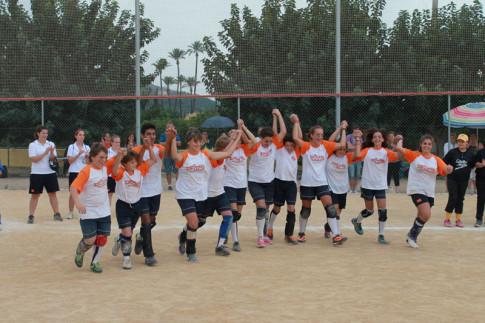 El equipo celebra el campeonato (Foto Federación Española de Beisbol y Sófbol)