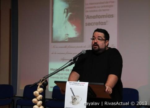 Fernando López Guisado, durante la presentación de 'Anatomías secretas' (Foto: Enrique Ayala)