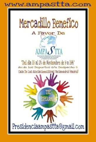 Cartel anunciador del Mercadillo Solidrio de AMPASTTA