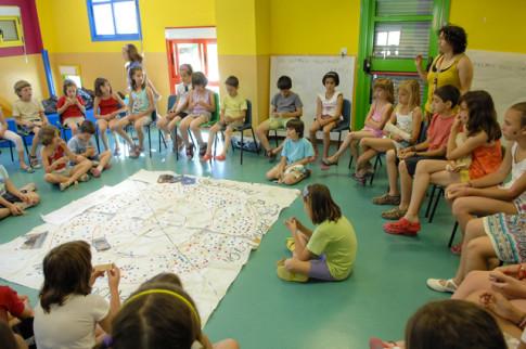 Participantes en una de las sesiones del Foro Infantil, en una foto de mayo pasado (Foto cortesía del Ayuntamiento de Rivas)