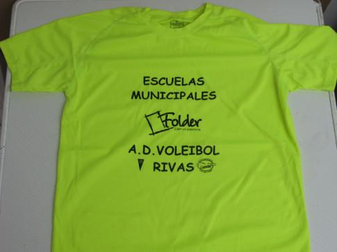 Camiseta que lucirán esta temporada los equipos de voleibol en los Juegos Deportivos Municipales (Foto cortesía del club)