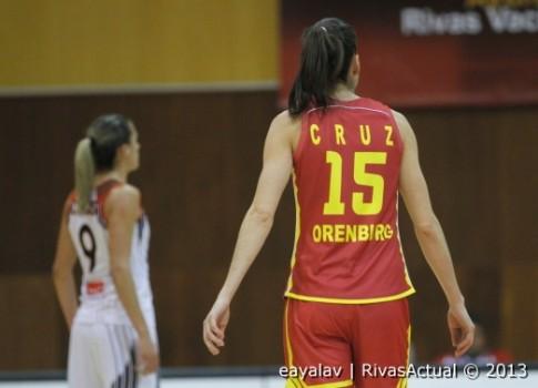 Anna Cruz, en el partido de ayer (Foto: Enrique Ayala)