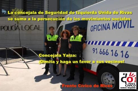 Propaganda del Frente Cívico pidiendo la dimisión de Yaiza García