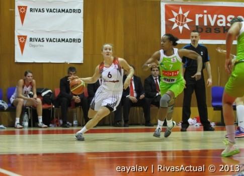 Frida Eldebrink dio muy buenas sensaciones en el partido (Foto: Enrique Ayala)