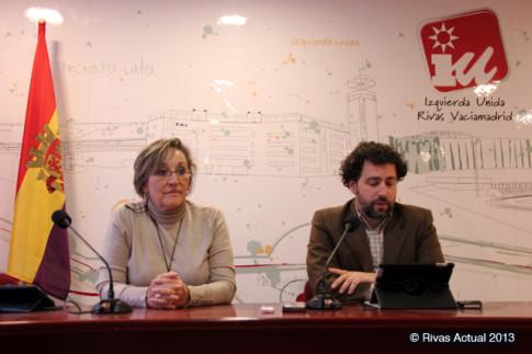 Un momento de la rueda de prensa, con Ana Reboiro y Pedro del Cura (Foto Rivas Actual)