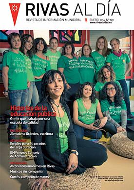 Portada de la edición de enero de 'Rivas al Día'