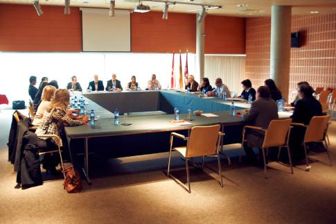 Un momento de la reunión (Foto: Ayto Rivas)