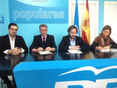 Sotillos, Riber, González Espartero y Novo, durante la rueda de prensa (Foto: Rivas Actual)