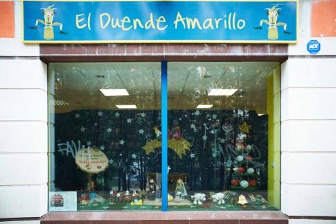 Escaparate de El Duende Amarillo, primer premio del concurso (Foto cortesía Ayto. Rivas)