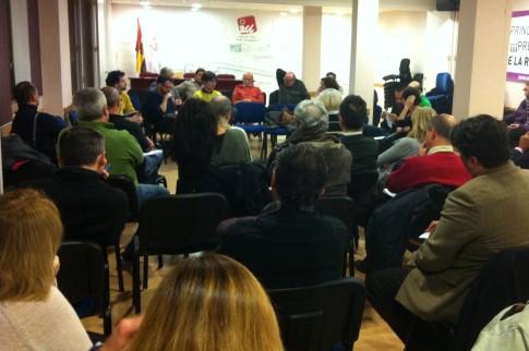 Un aspecto de la asamblea (Foto cortesía de IU Rivas)