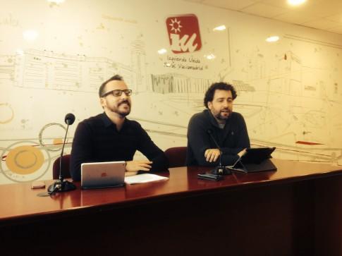 Curro García Corrales (izquierda) y Pedro del Cura, durante la rueda de prensa (Foto Rivas Actual)