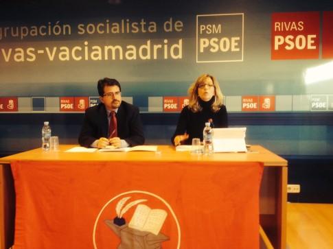 Guillermo Magadán y Carmen Pérez durante la rueda de prensa (Foto Rivas Actual)
