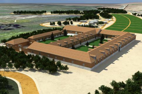 Infografía con una recreación de la Casa de la Monta en torno a la cual se proyecta construir el complejo turístico