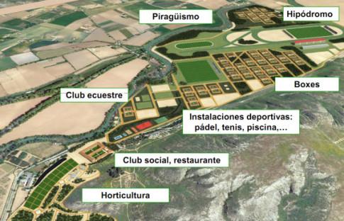 Infografía del proyecto de complejo turístico en torno a la Casa de la Monta