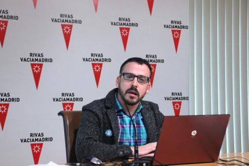 Curro García Corrales, esta mañana, durante la presentación del festival ante los medios (Foto Rivas Actual)