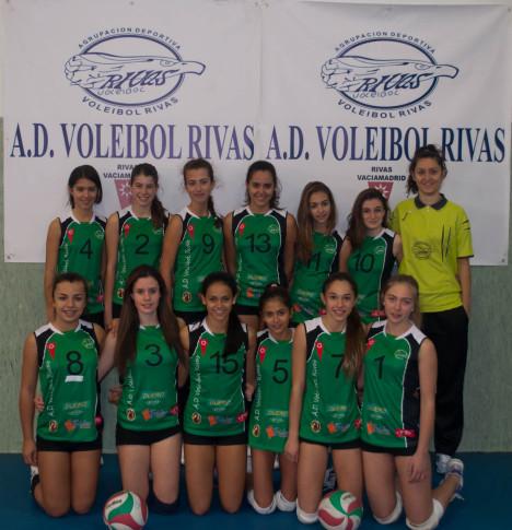 Equipo infantil femenino de la AD Voleibol Rivas (Foto cortesía del club)