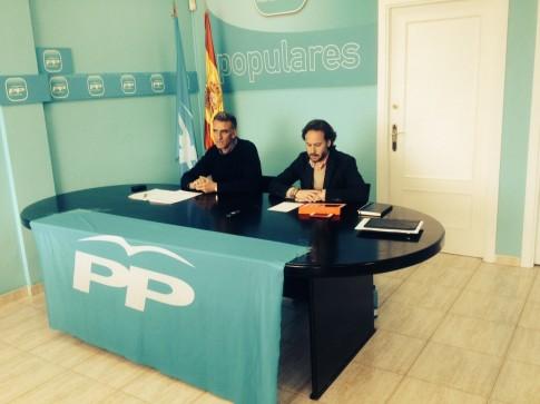Jesús González Espartero (derecha) y José Antonio Riber, durante la rueda de prensa (Foto Rivas Actual)
