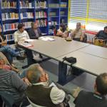 Un aspecto de la reunión de IU con asociaciones locales (Foto IU Rivas)
