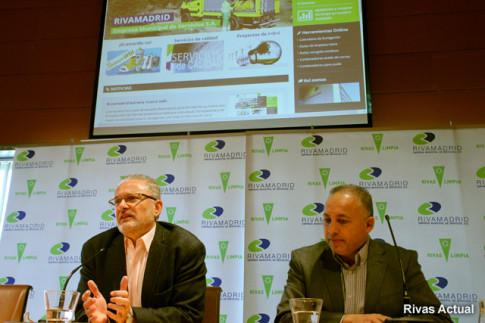 Fausto Fernández (izquierda) y José Gómez, durante la presentación (Foto Rivas Actual)