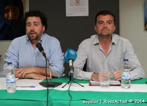 Del Cura (izquierda) y Maíllo durante la conferencia (Foto: Enrique Ayala)