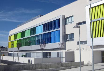 Infografía del Colegio Arenales de Arroyomolinos, de la misma Fundación de la que depende el Colegio Santa Mónica (Foto de la web del estudio de arquitectura del colegio de Arroyomolinos)