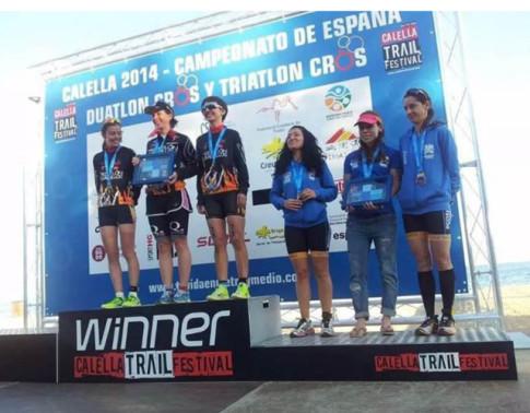 Las atletas del club aganadoras del Campeonato de España absoluto femenino por equipos (Foto cotesía del club)