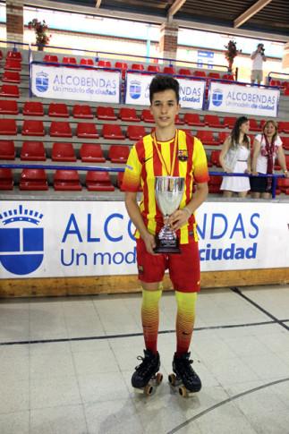 Pablo Nájera, con el trofeo de Campeón de España.