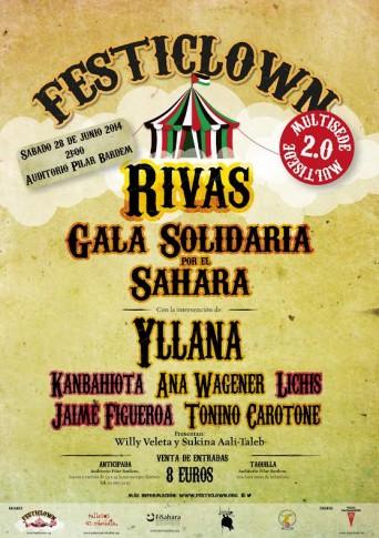 Cartel anunciador de la próxima gala en Rivas