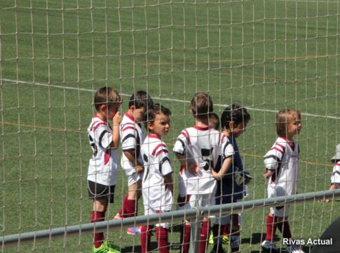 Uno de los equipos participantes en la categoría Chupetines (Foto Rivas Actual)