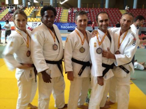 Varios de los judokas del club ripense que participaron en el Campeonato de España (Foto cortesía del club)