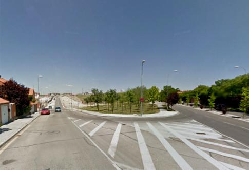 Confluencia de la Avenida de la Tierra con el Paseo de las Provincias (a la derecha), en cuyo entorno se construirá el CEIPSO