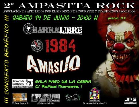 Cartel anunciador del 'II AMPASTTA Rock'