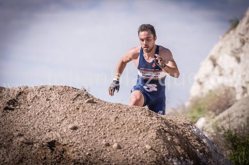 Óscar Lado, durante la Spartan Race de Rivas, en la que quedó tercero en la categoría Élite (Foto Spartan Race)