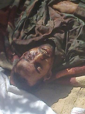 Supuesta foto del cadáver de Brahim Badda Uld Taher, según la oficina de Ocupación del Ministyerio saharaui de Emigración