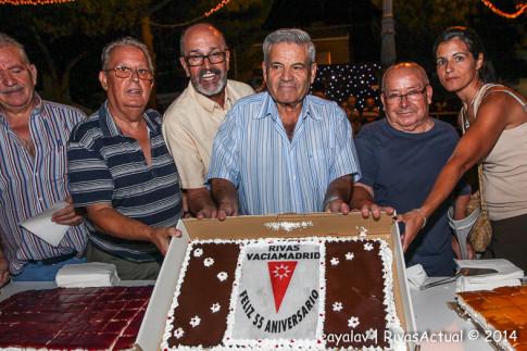 """La """"tarta de cumpleaños"""" se degustó coincidiendo con el comienzo del día del aniversario (Foto: Enrique Ayala)"""